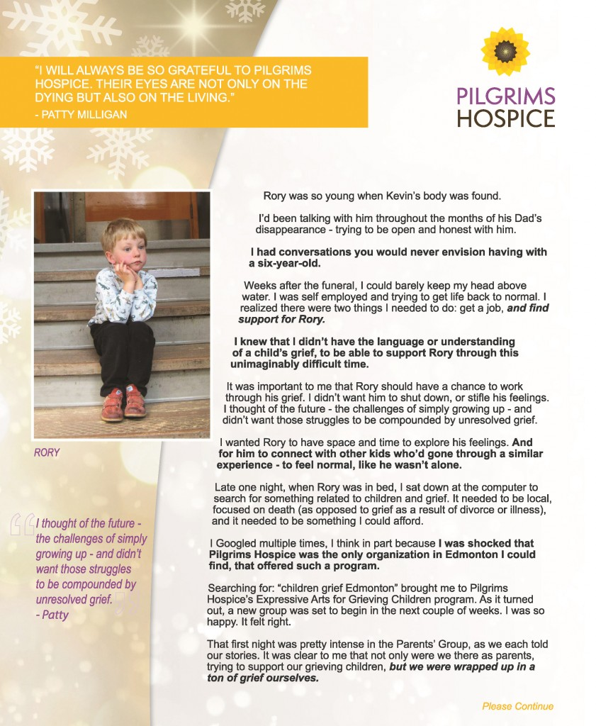 Patty & Rory's Story - Pilgrims Hospice Page 1